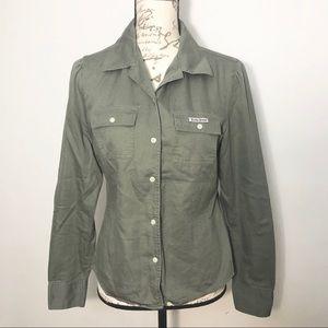 Lucky Brand Button Down Shirt Long Sleeve Blouse M